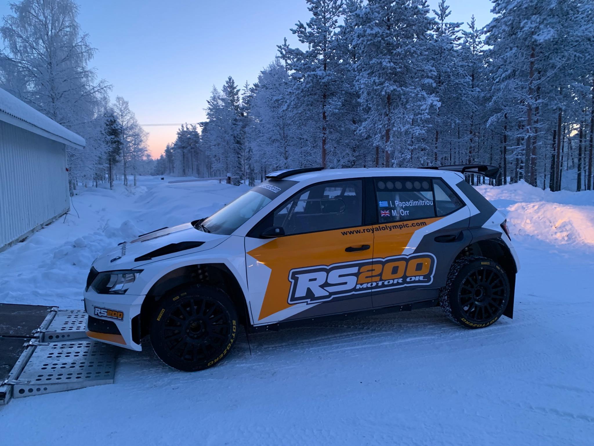 Ράλλυ Αρκτικής - RS200 Motor Oil Team: Σαν …τα χιόνια!