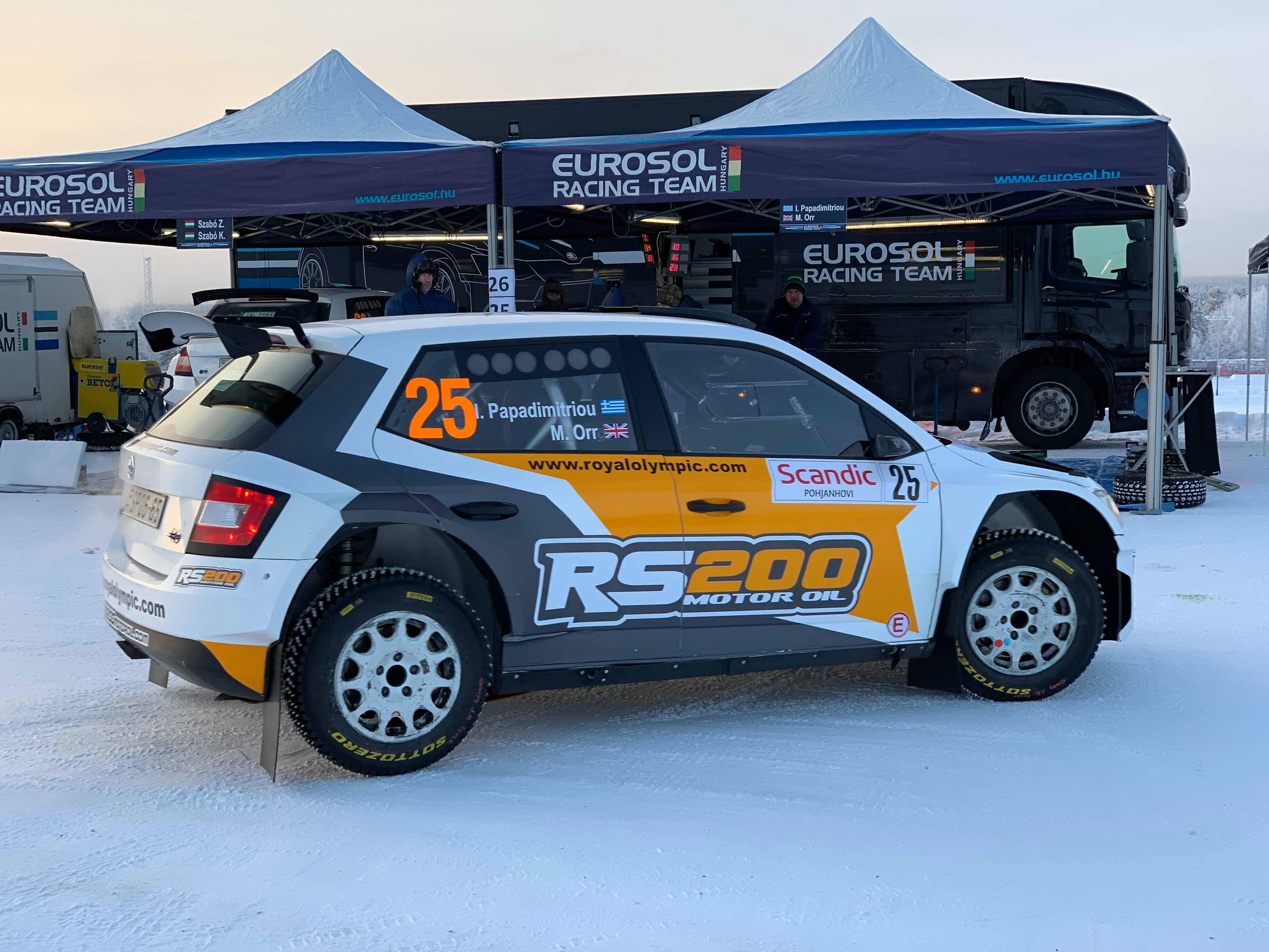 Ράλλυ Αρκτικής - RS200 Motor Oil Team: Δεν τα κατάφερε στο Ράλλυ Αρκτικής ο Παπαδημητρίου